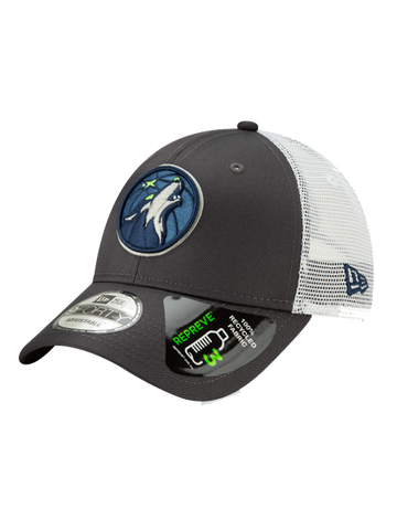 ac9f5ca579af31 Minnesota Timberwolves 9FORTY Repreve Trucker Graphite Adjustable Cap
