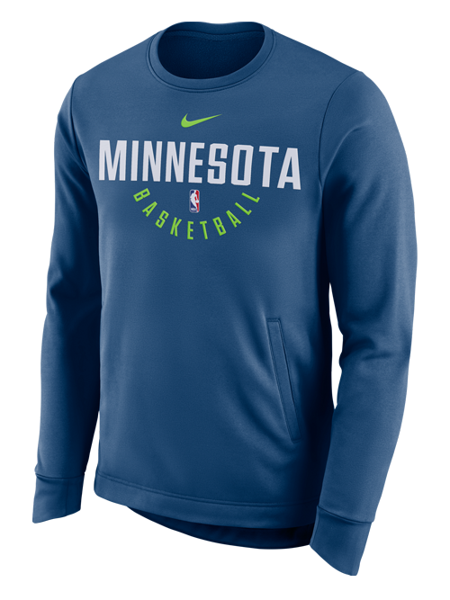 Minnesota Timberwolves Thermal Blue Long Sleeve Crew - Timberwolves Team Store