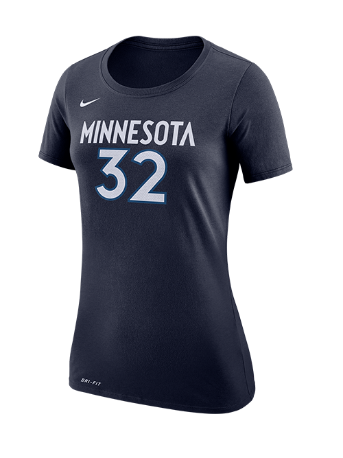 Minnesota Timberwolves Women's Karl-Anthony Towns Authentic Statement T-Shirt