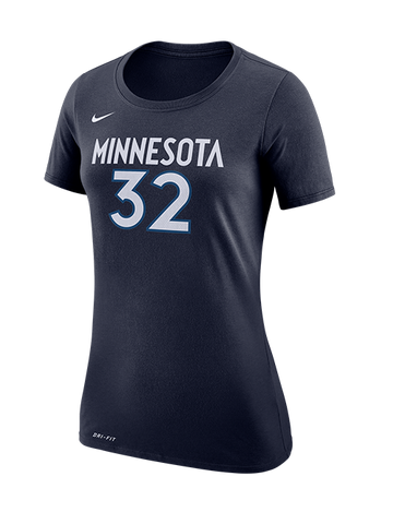 Minnesota Timberwolves Women's Baby Jersey Mesh Stripes T-Shirt