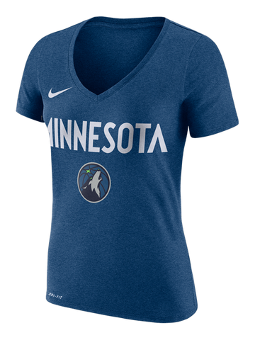 Minnesota Timberwolves Global Lady Gray TriBlend T-Shirt