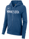 Minnesota Wolves Women's Essential Full Zip Hoodie