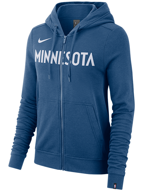 Minnesota Wolves Women's Essential Full Zip Hoodie - Timberwolves Team Store