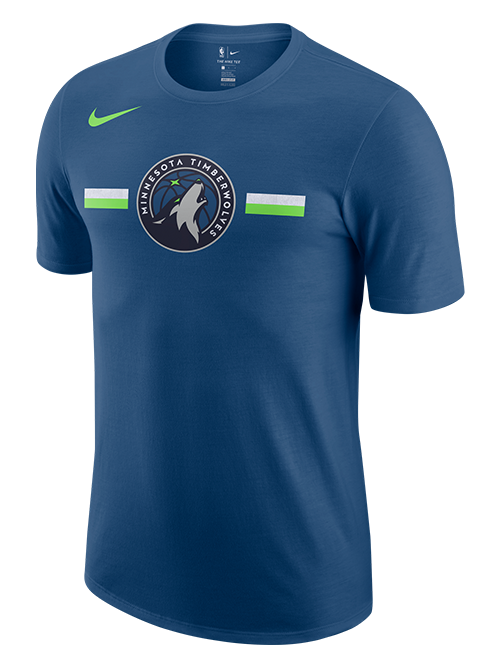 Minnesota Timberwolves Team Logo Stripe T-Shirt - Timberwolves Team Store