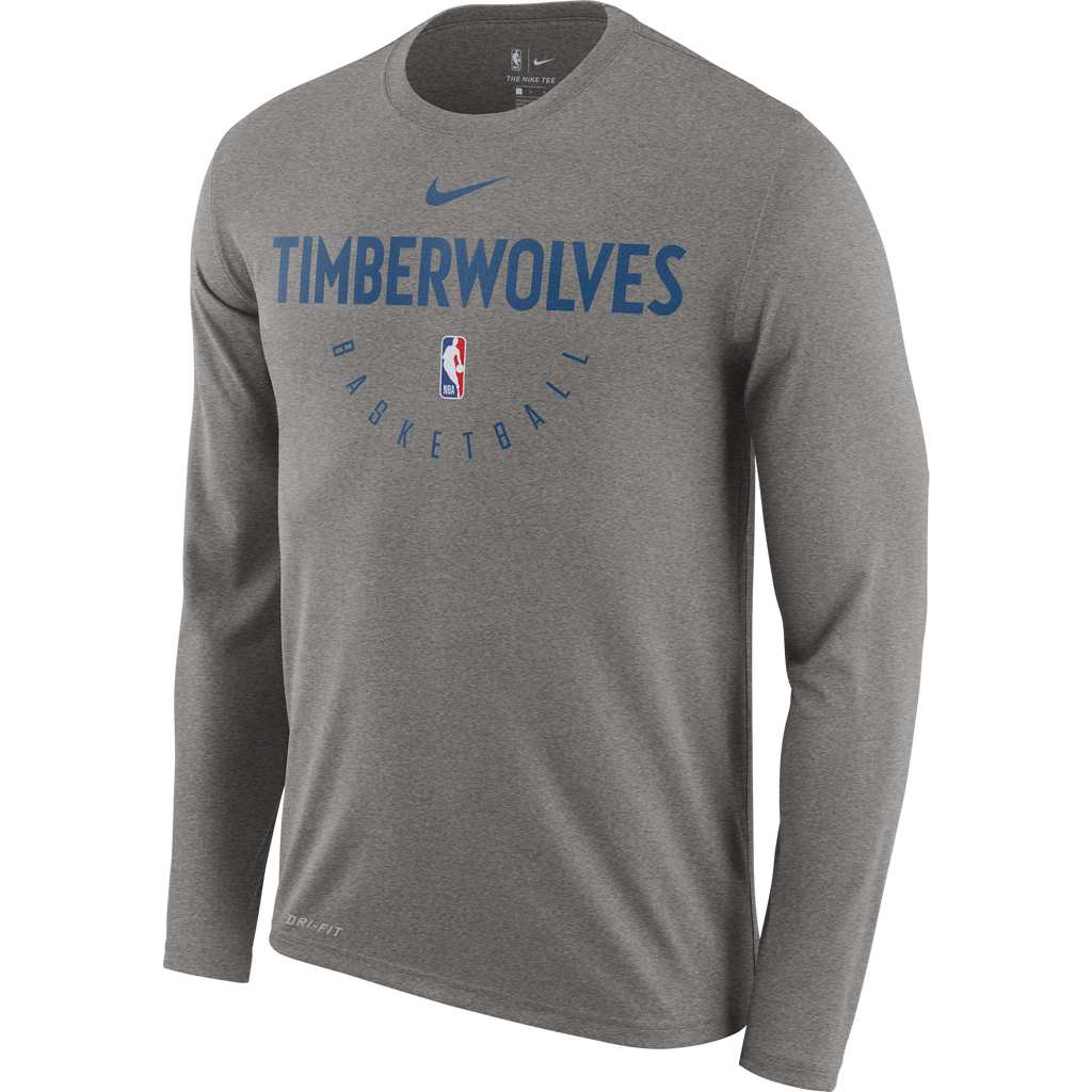 Minnesota Timberwolves Practice Long Sleeve T-Shirt - Gray