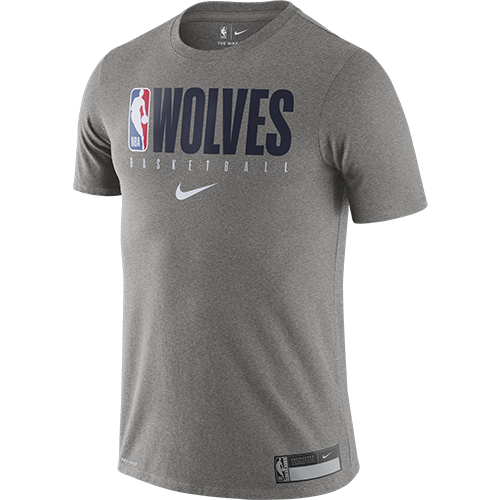 Minnesota Timberwolves Grey Dri Fit Tee