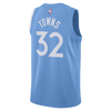 Minnesota Timberwolves City Edition Swingman Shorts - Light Blue