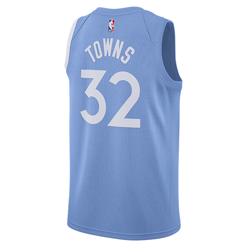 Karl-Anthony Towns City Edition Swingman Jersey - Light Blue