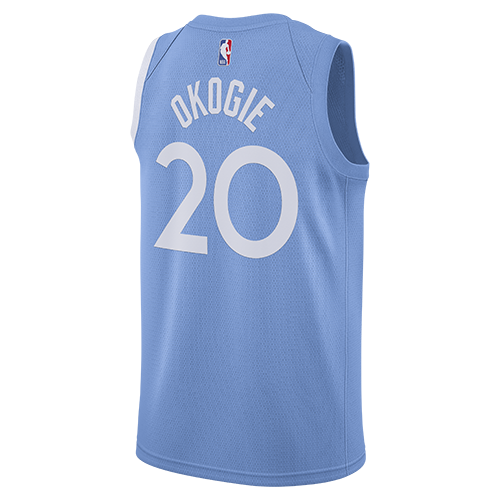 Minnesota Timberwolves City Edition Josh Okogie Swingman Jersey - Light Blue