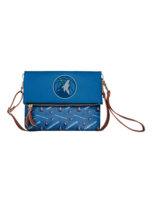 Minnesota Timberwolves Women's Printed Foldover Bag