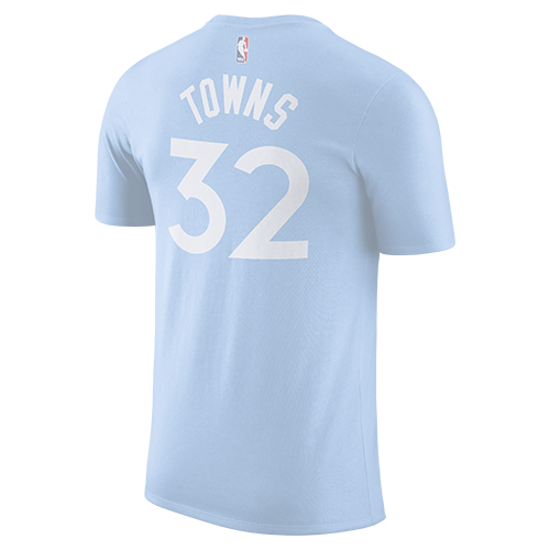 Minnesota Timberwolves Youth City Karl-Anthony Towns Player Tee - Light Blue - Timberwolves Team Store