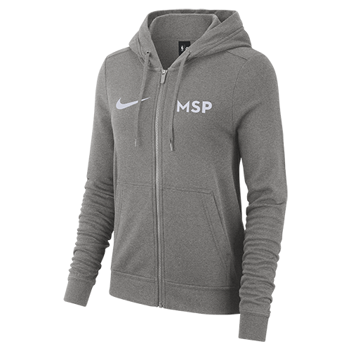 Minnesota Timberwolves Women's City Edition Full Zip Hoodie - Grey