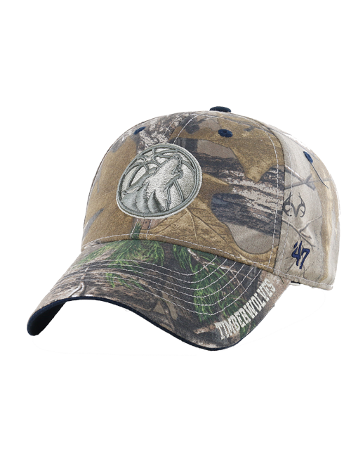 Minnesota Timberwolves Cap Realtree Frost Partial Adjustable Hat - Timberwolves Team Store