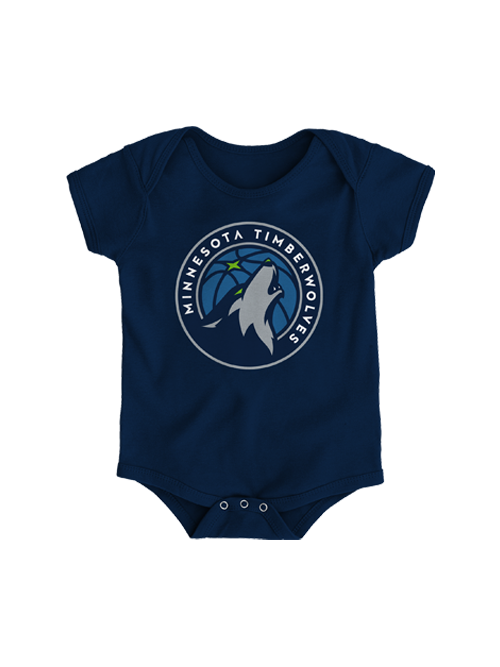 Minnesota Timberwolves Infant Primary Logo Onesie