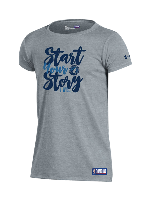 Minnesota Timberwolves Youth Girls Start Your Story T-Shirt - Grey - Timberwolves Team Store