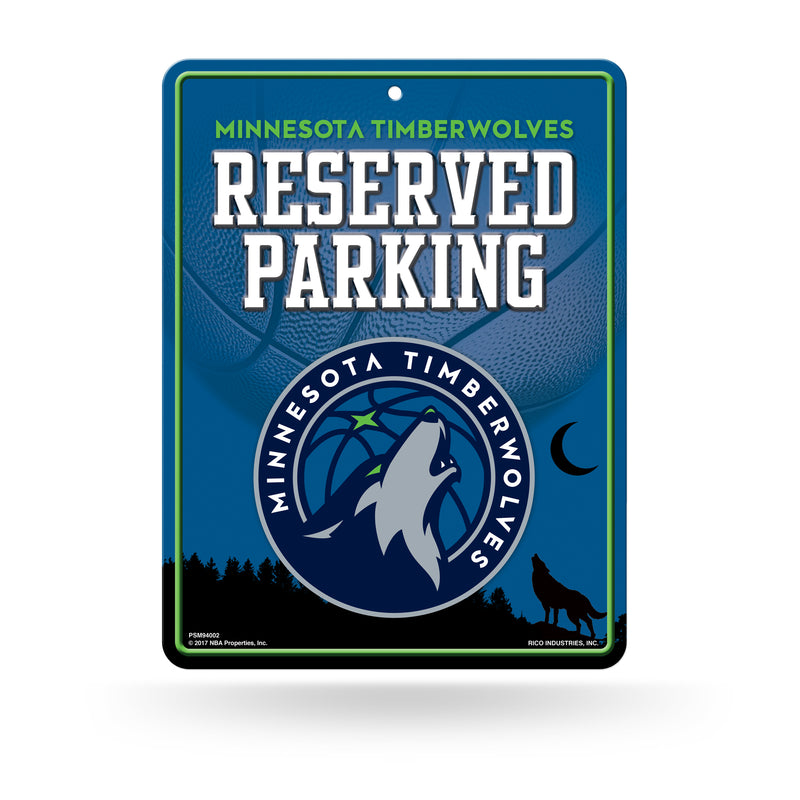 Minnesota Timberwolves Metal Parking Sign - Timberwolves Team Store