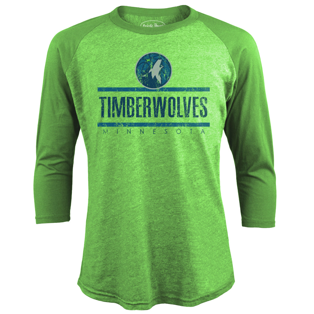Minnesota Timberwolves Three Quarter Sleeve Raglan - Timberwolves Team Store