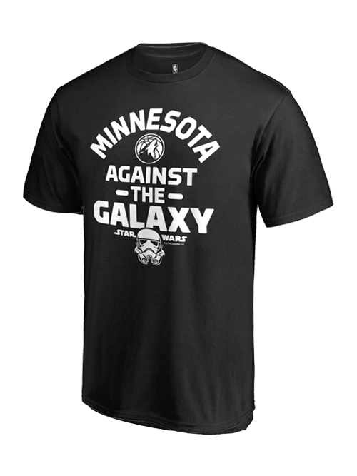 Minnesota Timberwolves Against the Galaxy Star Wars T-Shirt