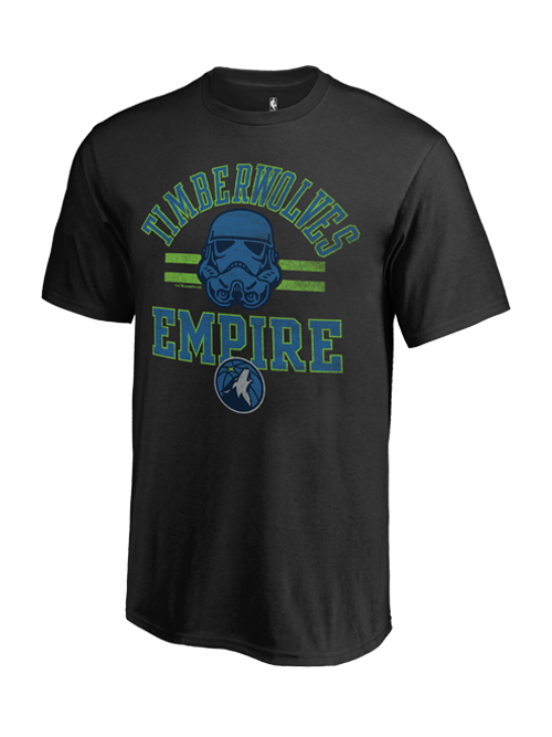 Minnesota Timberwolves Empire Star Wars T-Shirt
