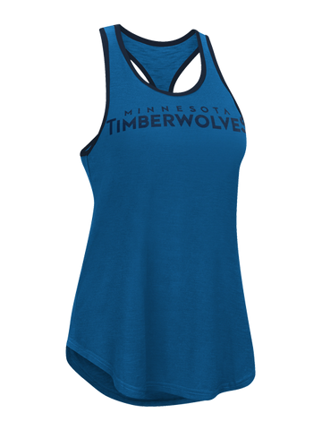 Minnesota Timberwolves Women's Burnout Wash Scoop V-Neck