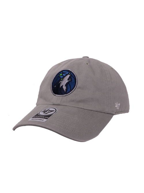 Minnesota Timberwolves Gray Clean Up Hat