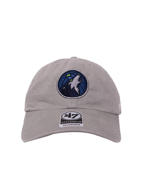 Minnesota Timberwolves Gray Clean Up Hat - Timberwolves Team Store