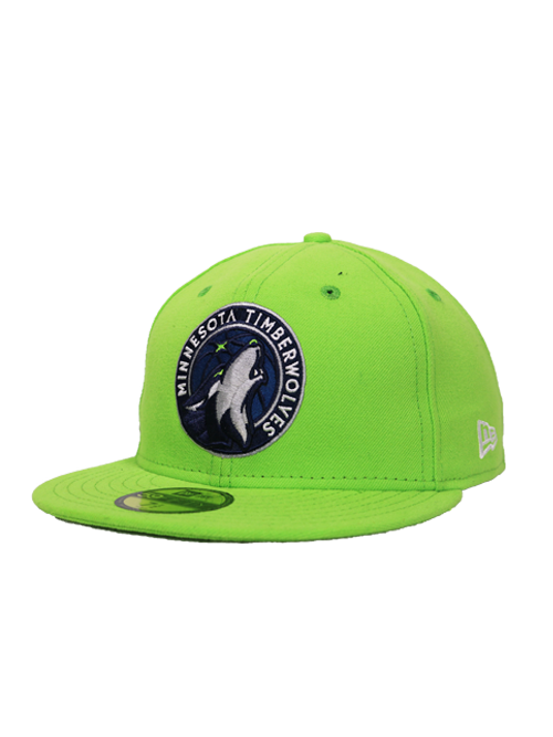 Minnesota Timberwolves Green Global Icon Fitted Hat - Timberwolves Team Store
