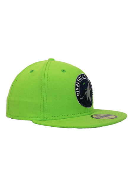 Minnesota Timberwolves Green Global Icon Fitted Hat