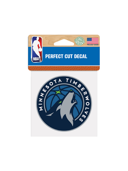 Minnesota Timberwolves Perfect Cut Decal 4x4