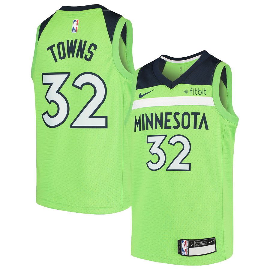 Minnesota Timberwolves Youth Karl-Anthony Towns Swingman Statement Jersey - Timberwolves Team Store
