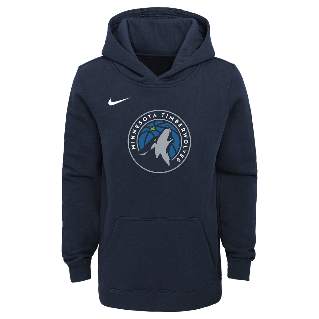 Minnesota Timberwolves Youth Logo Essential Hoodie - Timberwolves Team Store