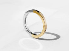 Two Tone Minimal Ring | Polished Gold