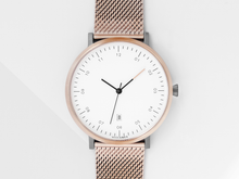 Load image into Gallery viewer, ROSE GOLD x GREY MG001 WATCH