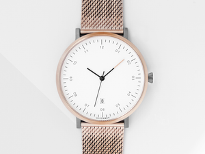 ROSE GOLD x GREY MG001 WATCH