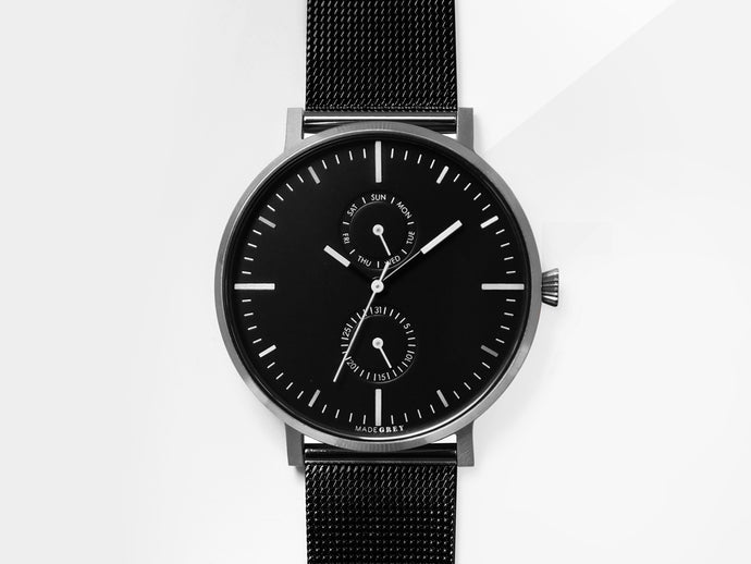 NEW! MONOCHROME MG002 | MESH+LEATHER STRAP SET