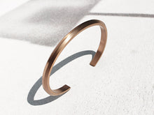 Wide Bevel Cuff Bracelet | Brushed Rose Gold