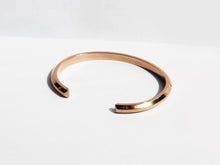 Wide Bevel Cuff Bracelet | Rose Gold