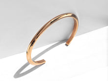 Thin Bevel Cuff Bracelet | Rose Gold