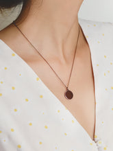 Disc Necklace | Bronze