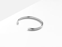 Load image into Gallery viewer, Brushed Petite Bold Cuff Bracelet | Silver