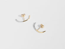 Load image into Gallery viewer, 2-Tone Cuff Earrings | Gold