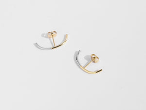 2-Tone Cuff Earrings | Gold