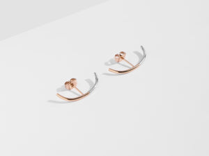 2-Tone Cuff Earrings | Rose Gold