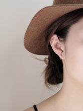Load image into Gallery viewer, 2-Tone Cuff Earrings | Rose Gold