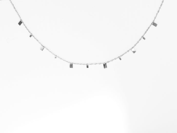 NEW! Mini Rectangles Necklace |  Silver