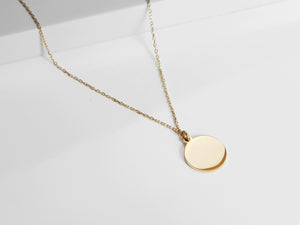 Disc Necklace |  Gold