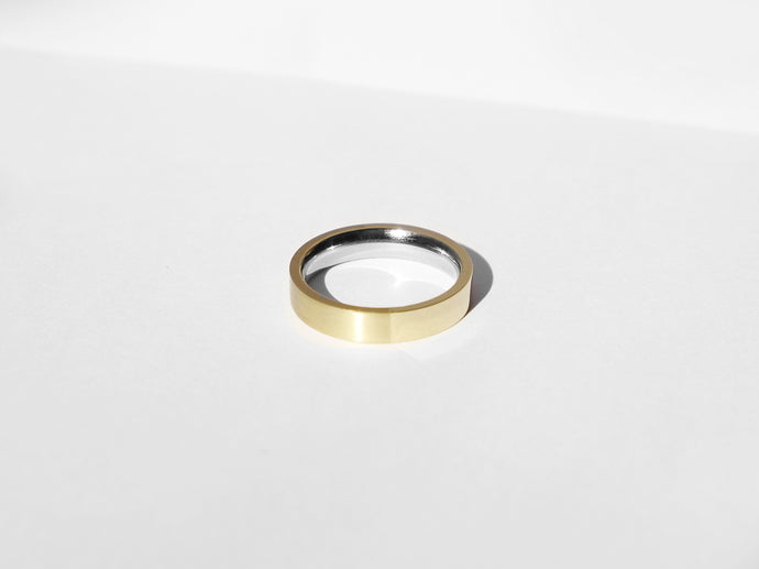 Dual Texture Ring | Gold