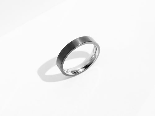FREE ENGRAVING! Dual Texture Ring | Grey