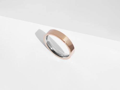FREE ENGRAVING! Dual Texture Ring | Rose Gold