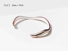 Load image into Gallery viewer, Flow Cuff Bracelet Engraving